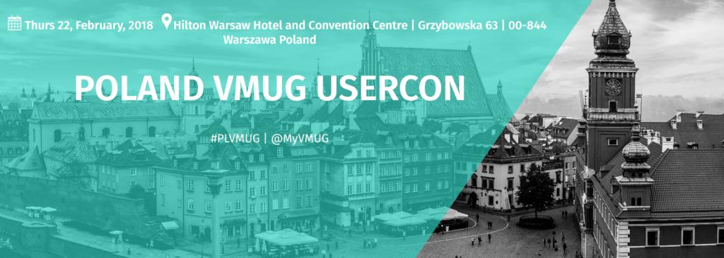 VMUG Usercon in Warsaw