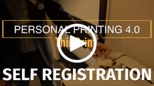 Secure printing with self registration